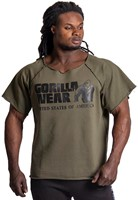 Gorilla Wear Classic Work Out Top - Army Green-2