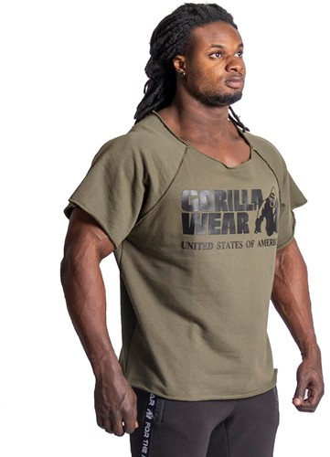 Gorilla Wear Classic Work Out Top - Army Green-3