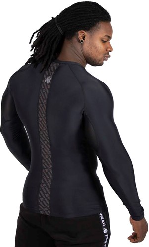 Gorilla Wear Hayden Compression Longsleeve - Black/Black-3