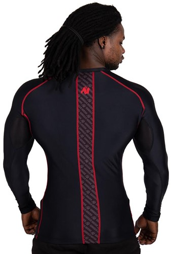 Gorilla Wear Hayden Compression Longsleeve - Black/Red-3
