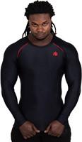 Gorilla Wear Hayden Compression Longsleeve - Black/Red