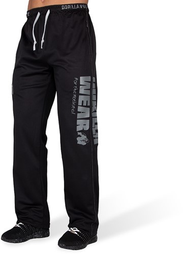 Gorilla Wear Logo Mesh Trainingsbroek Zwart - S/M