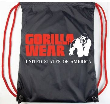 Gorilla Wear Drawstring Bag Zwart/Rood