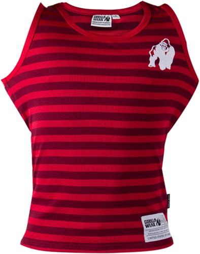Gorilla Wear Stripe Stretch Tank Top - Rood