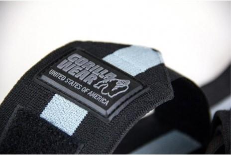 Gorilla Wear Wrist Wraps Ultra Black/Grey-3
