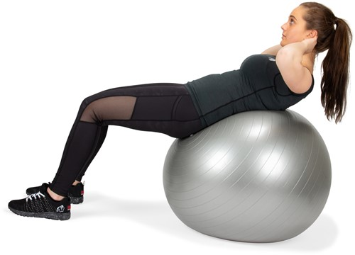 VirtuFit Anti-Burst Fitnessbal Pro - Gymbal - Swiss Ball - met Pomp - Grijs - 65 cm -3