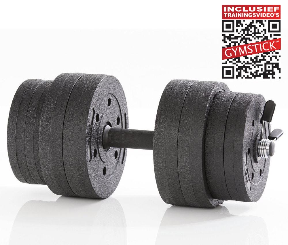 Gymstick Active Verstelbare Dumbbell Set - Vinyl - 15kg - Met Online Trainingsvideo's