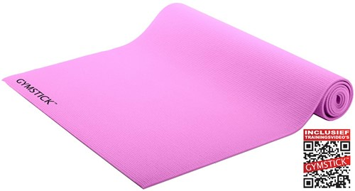 Gymstick Active Fitnessmat - Yogamat - Roze - Met Online Trainingsvideo's