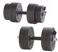 Gymstick Active Vinyl Dumbbell set - 15kg - Met Online Trainingsvideo's-2