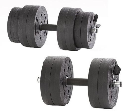 Gymstick Active Vinyl Dumbbell set - 15kg - Met Online Trainingsvideo