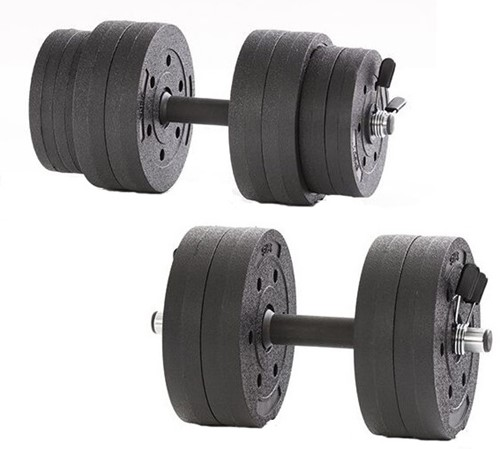 Gymstick Active Vinyl Dumbbell set - 15kg - Met Online Trainingsvideo