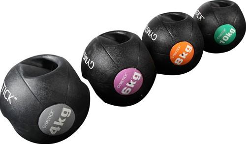 Gymstick medicijnbal met handvaten - 8 kg - Licht verkleurd - Verpakking ontbreekt