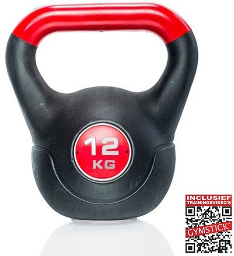 Gymstick Vinyl Kettlebell 12 kg met trainingsvideo's