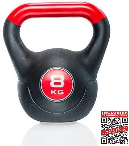 Gymstick Vinyl Kettlebell 8 Kg met trainingsvideo's