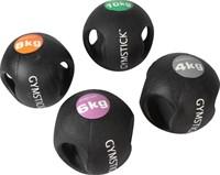 Gymstick medicijnbal met handvaten - 4 kg - Licht verkleurd - Verpakking ontbreekt-2