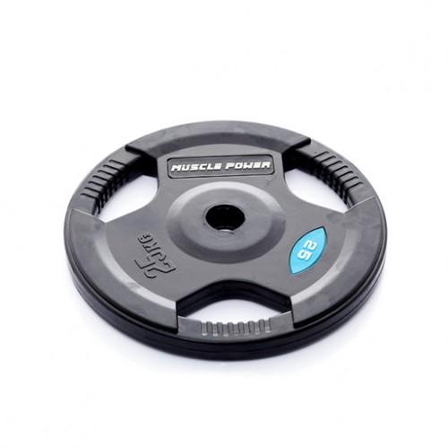 Muscle Power Rubber Halterschijf 50 MM - 25 kg