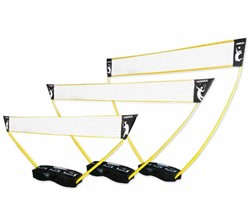 3-in-1 set - Portable Tennis, Badminton en Volleybal Net - Pro