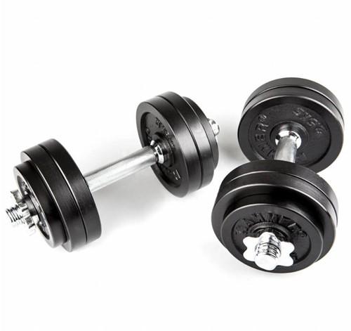 Hammer Dumbbell Set - Zwart - 2 x 15 kg (30 kg)