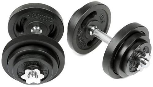 Hammer Dumbbell Set - Zwart - 2 x 20 kg (40 kg)