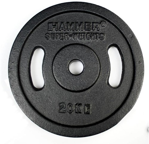 Hammer Gietijzeren Halterschijven - 30 mm - 2 x 20 kg
