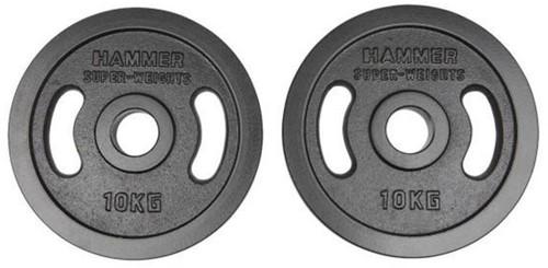 Hammer Olympische Gietijzeren Halterschijven - 2 x 10 kg