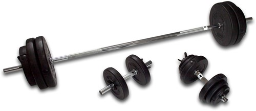 Hammer Halterset - 180 cm Halterstang + Dumbbells - 76 kg
