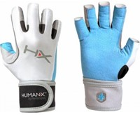 Harbinger Women's X3 Competition Open Finger Crossfit Fitness Handschoenen WristWrap Blue/Gray/White