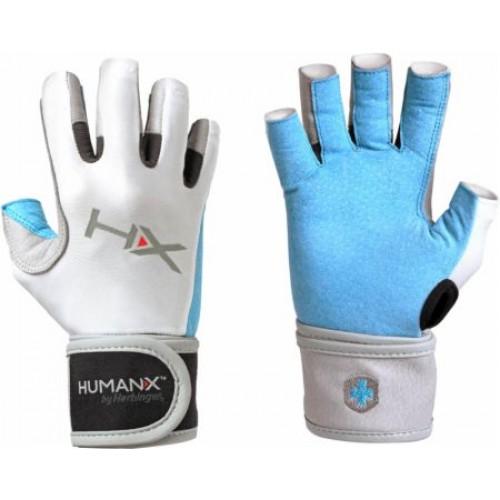 3b63cb7a35e Harbinger Women's X3 Competition Open Finger Crossfit Fitness Handschoenen  WristWrap Blue/Gray/White -
