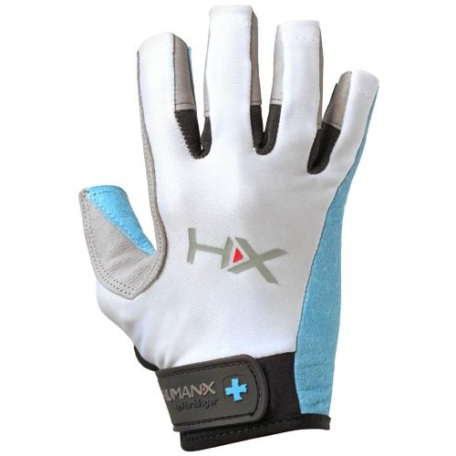 Harbinger Women's X3 Competition Open Finger Crossfit Fitness Handschoenen Blue-Gray-White-S