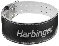 Harbinger 4 Inch Padded Leather Belt - Silver Printed-1