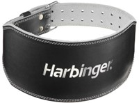 Harbinger 6 Inch Padded Leather Belt - Silver Printed-1