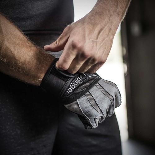 Harbinger Bioform WristWrap Fitness Handschoenen - Grey/Black-2