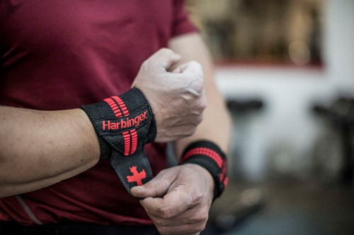 "Harbinger Red Line wrist wrap 18""-3"