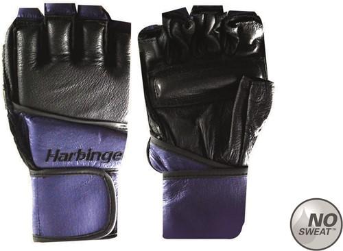 Harbinger Women's Fitness Handschoenen - Vechtsport Handschoenen met Wrist Wrap - Zwart/Paars