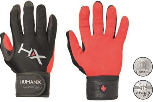 Harbinger Men's X3 Competition Crossfit Fitness Handschoenen met Wrist Wrap - Rood/Zwart