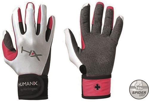 Harbinger Women's X3 Competition Crossfit Fitness Handschoenen met WristWrap - Grijs/Wit/Roze