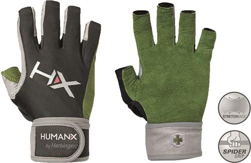 Harbinger Men's X3 Competition Open Finger Crossfit Fitness Handschoenen WristWrap Green/Gray/Black - S