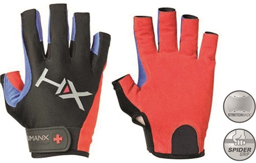 Harbinger Men's X3 Competition Open Finger Crossfit Fitness Handschoenen Red/Blue/Black