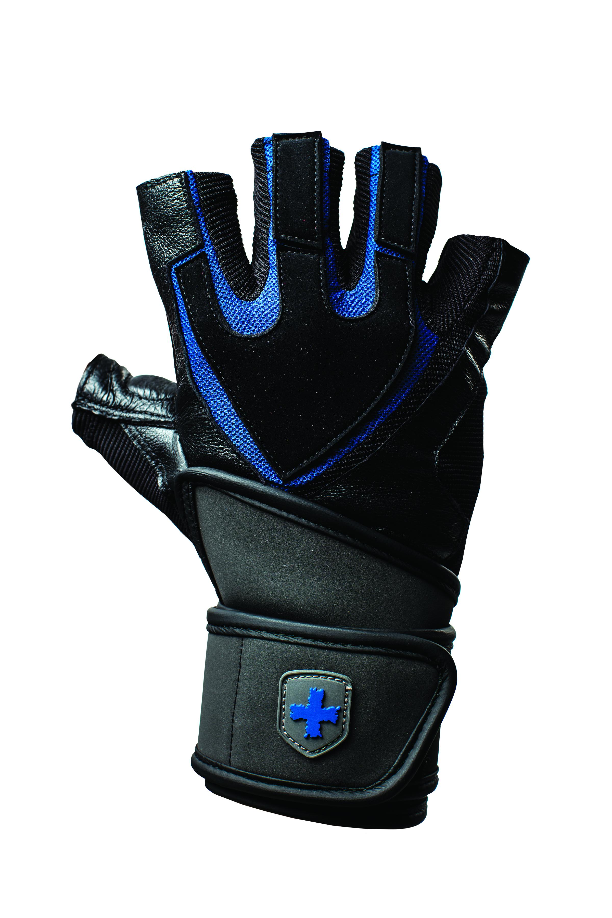 Harbinger Training Grip Gloves Black-Blue L