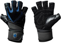 Harbinger Training Grip Gloves Black/Blue-3