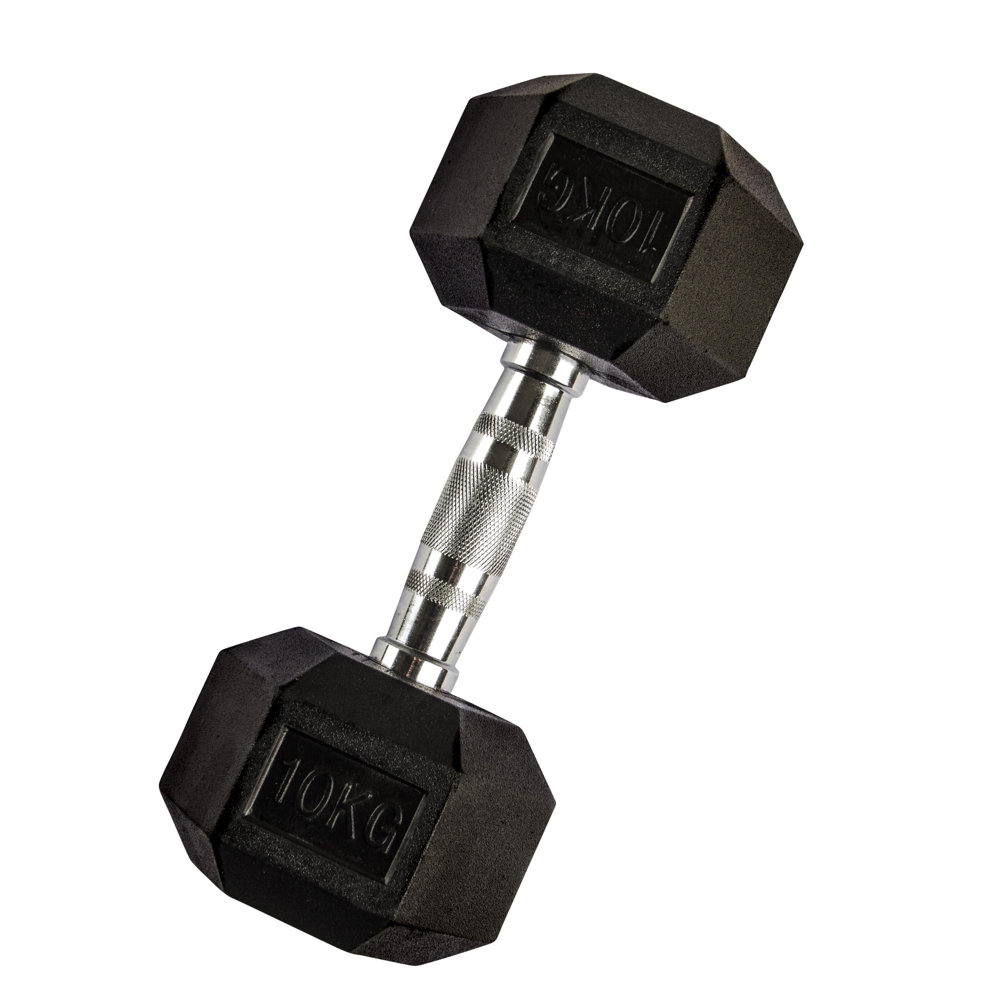 VirtuFit Hexa Dumbell - 10 kg - Per Stuk