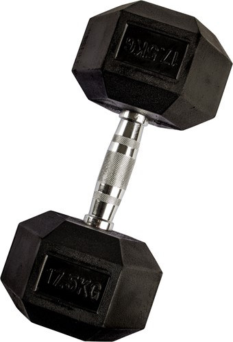 VirtuFit Hexa Dumbell - 17.5 kg - Per Stuk