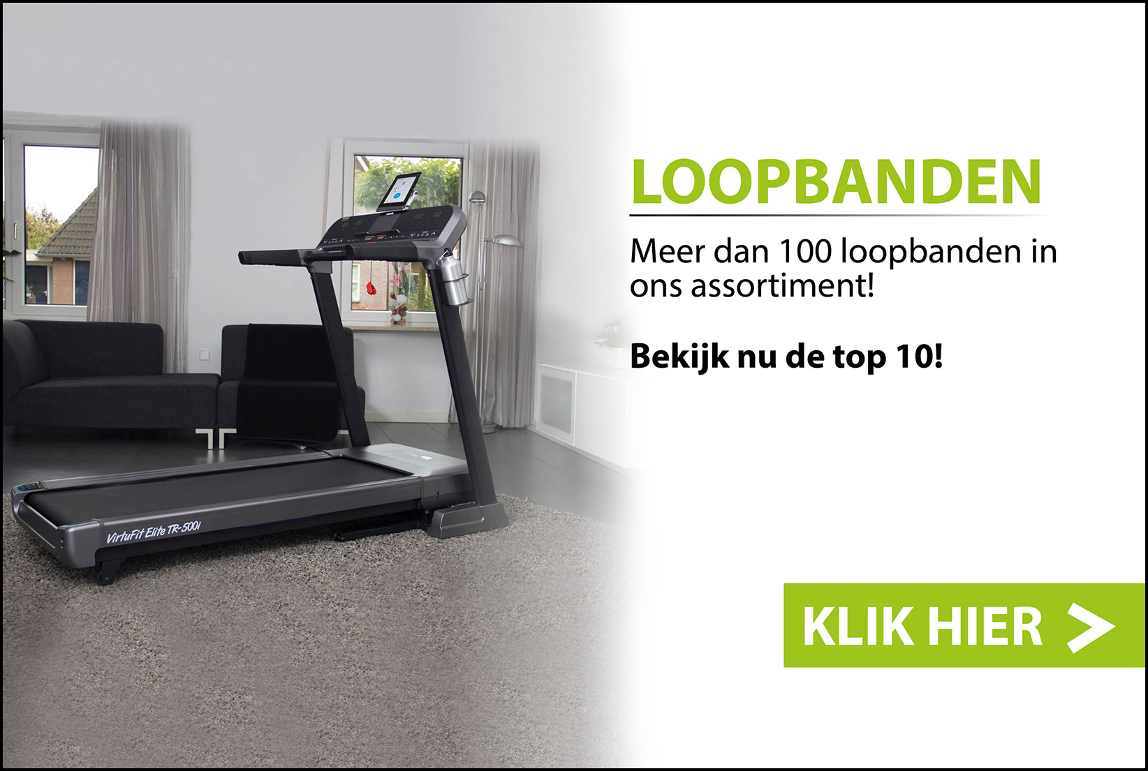 PC / TABLET Fitnessapparaat - Home - Mainbanner