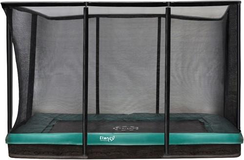 Etan Premium Gold Combi Inground Trampoline met Veiligheidsnet - 281 x 201 cm - Groen
