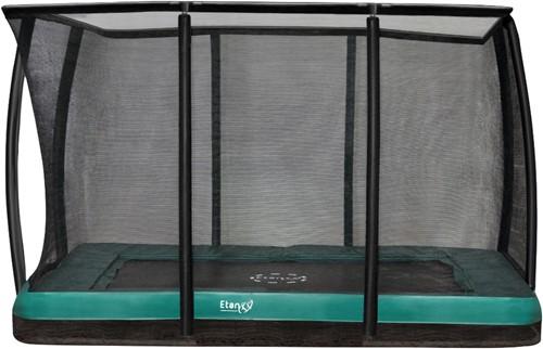 Etan Premium Gold Combi Deluxe Inground Trampoline met Veiligheidsnet - 281 x 201 cm - Groen