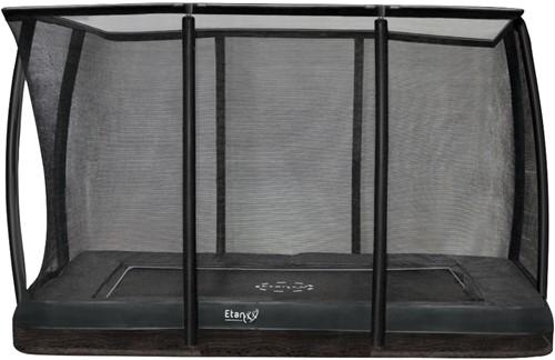 Etan Premium Gold Combi Deluxe Inground Trampoline met Veiligheidsnet - 281 x 201 cm - Grijs