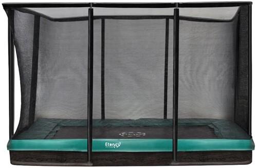 Etan Premium Gold Combi Inground Trampoline met Veiligheidsnet - 310 x 232 cm Groen