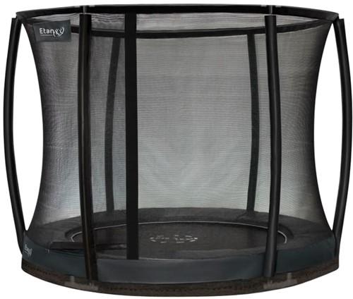 Etan Premium Gold Combi DeluxeInground Trampoline met Veiligheidsnet - 305 cm - Grijs