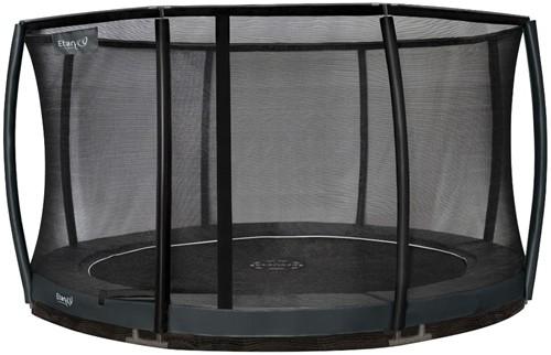 Etan Premium Gold Combi DeluxeInground Trampoline met Veiligheidsnet - 335 cm - Grijs