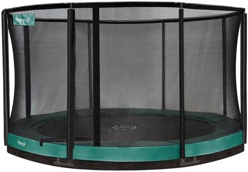 Etan Premium Gold CombiInground Trampoline met Veiligheidsnet - 427 cm Groen